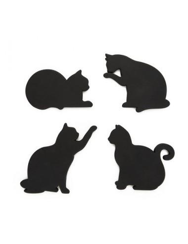Set de 4 posavasos - Gato -...